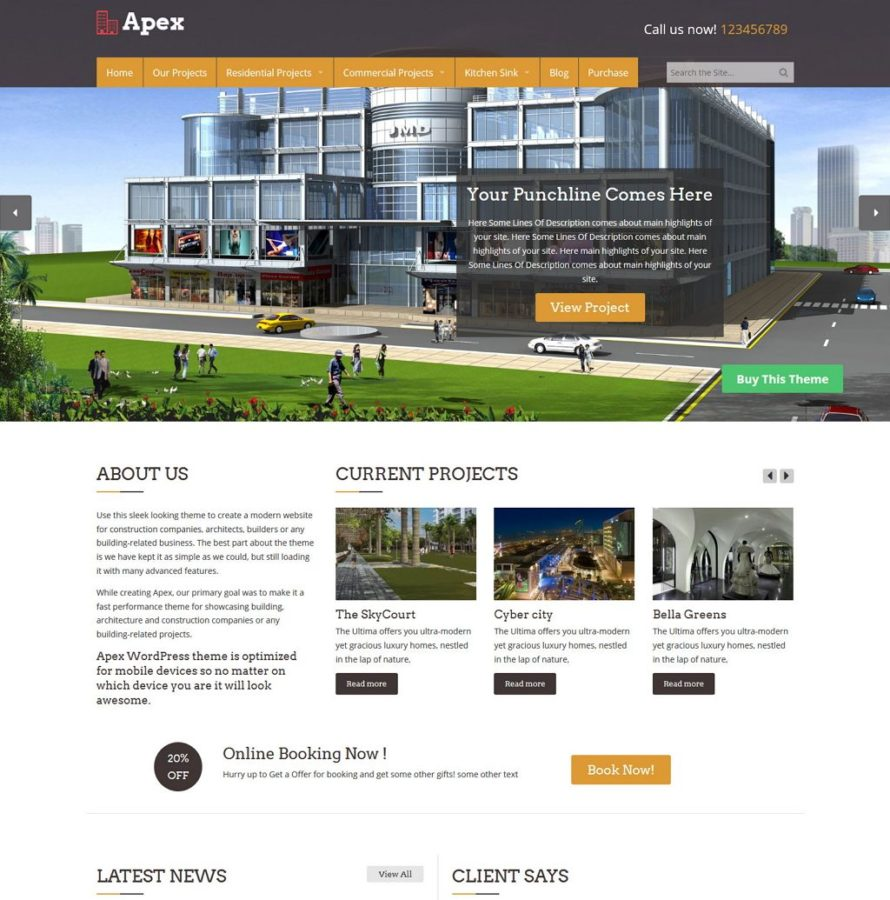 apex construction wordpress theme wordpress themes plugins